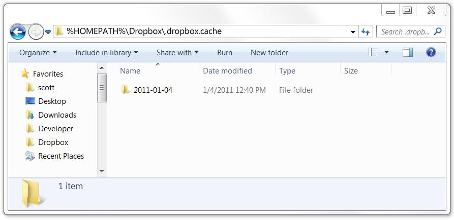 dropbox cache verwijderen