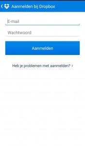 Dropbox-mobiel-aanmelden