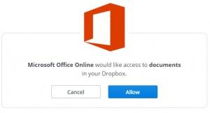 open dropbox bestand in office